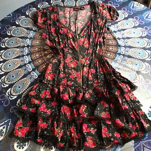 Material Girl black floral dress size small